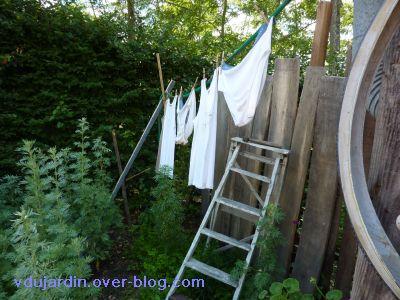 Chaumont-sur-Loire, festival 2010, le jardin 20, 07, la petite lessive