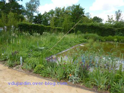 Chaumont-sur-Loire, festival 2010, le jardin 20, 24, la marre voisine