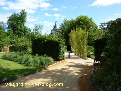 Chaumont-sur-Loire, festival 2010, le jardin 4, 1, l'entrée