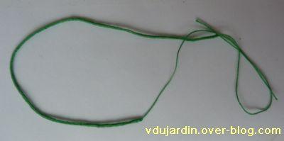 Cordon à la lucette, vert