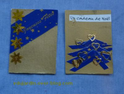 Noël 2010 par Jardin Zen, deux jolies ATC