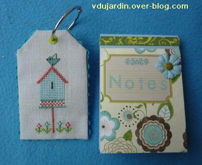 Noel 2010, le cadeau reçu de Milkinise, 3, carnet et tag