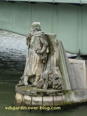 Paris, le pont de l'Alma, 2, le Zouave