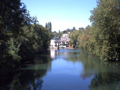 Le Clain à Poitiers près du moulin de Chasseigne