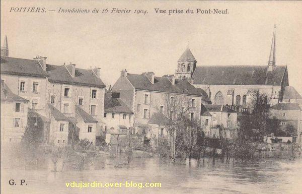 Poitiers, la crue de 1904, 3, près de Sainte-Radegonde