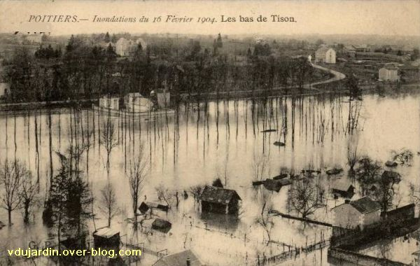 Poitiers, la crue de 1904, 4, chemin de Tison