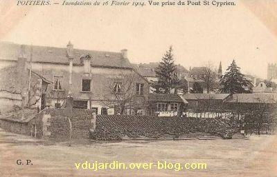 Poitiers, la crue de 1904, 1, vers le pont Saint-Cyprien