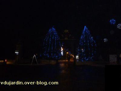 Poitiers, averse de neige du 14 décembre 2010, 2, l'entrée du parc de Blossac