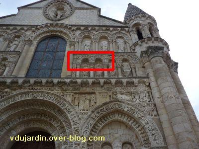Poitiers, façade de Notre-Dame-la-Grande, deuxième niveau, sud