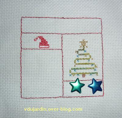 SAL décembre de Petite fée Nougat, étapes 4, un sapin
