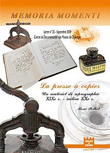 Couverture du Memoria Monumenti n° 25, de la société archéologique de Chauvigny, sur les presses