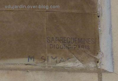 Tours, la gare, l'intérieur, 12, Cahors, signature