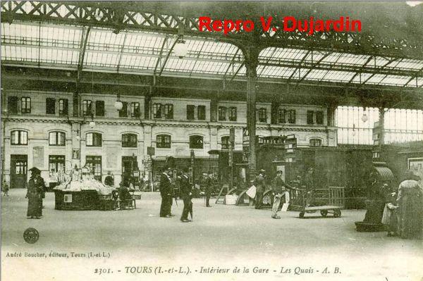 Tours, la gare, l'intérieur, 01, vue ancienne