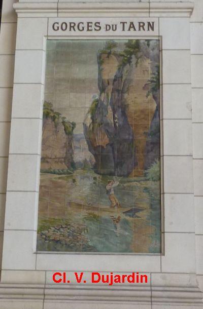 Tours, la gare, l'intérieur, 21, les gorges du Tarn
