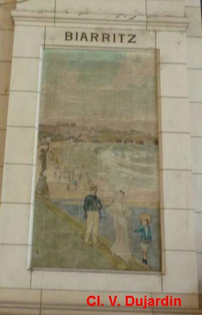 Tours, la gare, l'intérieur, 25, Biarritz