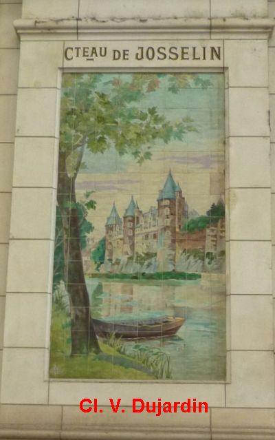 Tours, la gare, l'intérieur, 29, château de Josselin