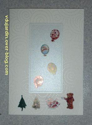 Cartes de noël 2010, deuxième exemple avec autocollants