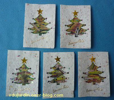 Cartes de noël 2010, première série sur papier maison