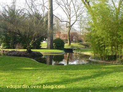 Le 29 janvier 2011 à Poitiers, 2, le jardin anglais du parc de Blossac