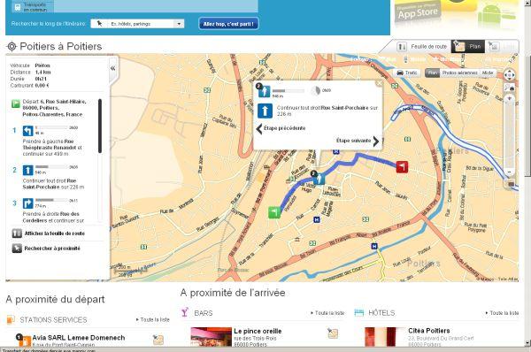 Itinéraire Mappy vers le bureau, de chez moi à Saint-Porchaire