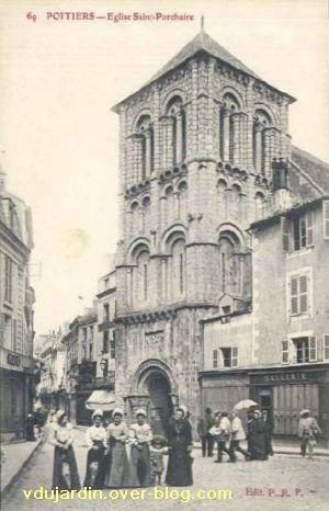 Poitiers, église Saint-Porchaire, carte postale ancienne, 3