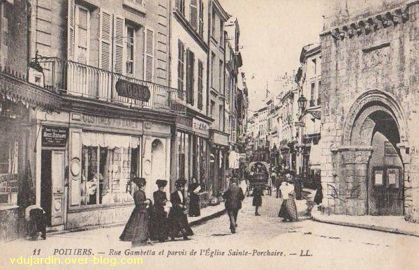 Poitiers, église Saint-Porchaire, carte postale ancienne, 10