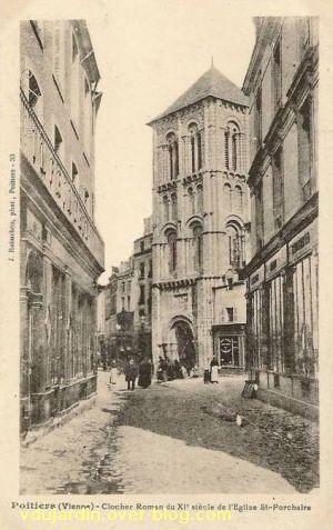 Poitiers, église Saint-Porchaire, carte postale ancienne, 8