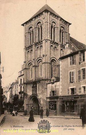 Poitiers, église Saint-Porchaire, carte postale ancienne, 6