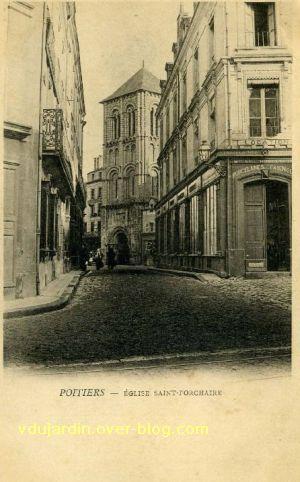 Poitiers, église Saint-Porchaire, carte postale ancienne, 9