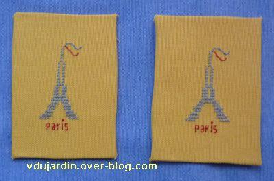 Noël 2010, ATC Tour Eiffel sur une grille de Mamigoz