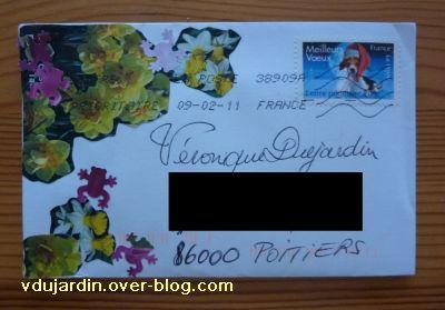 ATC de jardin Zen, l'enveloppe de février