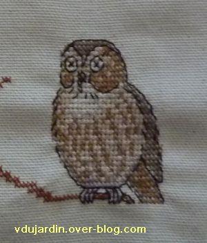 Concours oiseau, étape 1, détail de la chouette