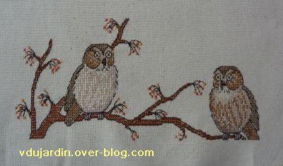 Concours oiseau, étape 2, les deux chouettes et la branche