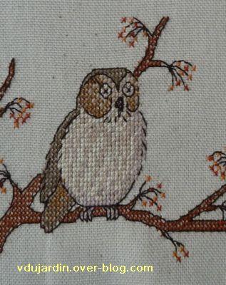 Concours oiseau, étape 2, détail de la chouette