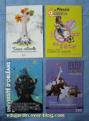 Envoi reçu de Véro bis en janvier 2011, les cartes à publicité