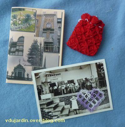 L'envoi de Bidouillette pour noël 2010, cartes, pochette rouge et coeur