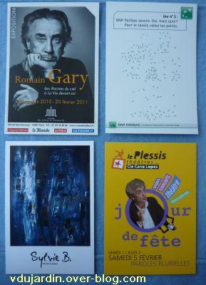 Envoi reçu de Véro bis en février 2011, 3, cartes à publicité