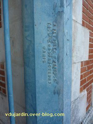 Niort, les halles, 05, signature du charpentier métallique