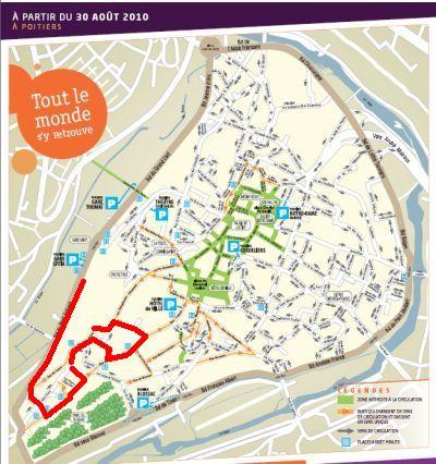 Itinéraire des boîtes aux lettres à Poitiers