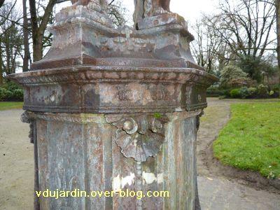 Toulouse, fontaine Wallace du Grand-Rond, 3, la marque de la fonderie D'Osne