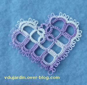 VDB 38, 3, un coeur en frivolité reçu de Bidouillette
