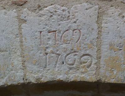 Cahors, date 1769 sur une prote rue Nationale