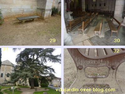 19 mars 2011, Poitiers, défi des bancs, 12, près de l'église Saint-Hilaire