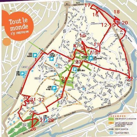 19 mars 2011, Poitiers, défi des bancs, 14, plan de la promenade