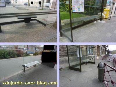19 mars 2011, Poitiers, défi des bancs, 11, abris bus