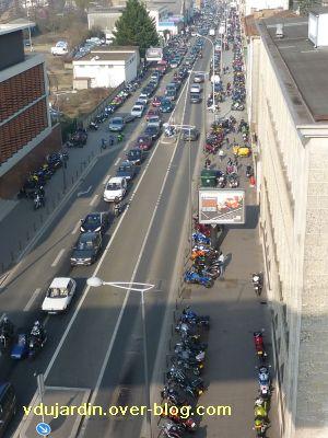 5 mars 2011, 1, rencontres de motards sur le boulevard à Poitiers