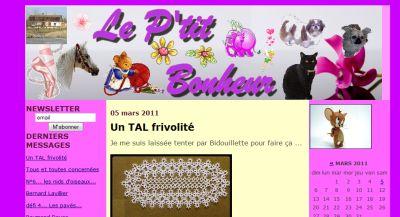 Saisie d'écran du blog de Falby