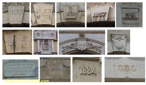 Cahors, dates du 19e siècle