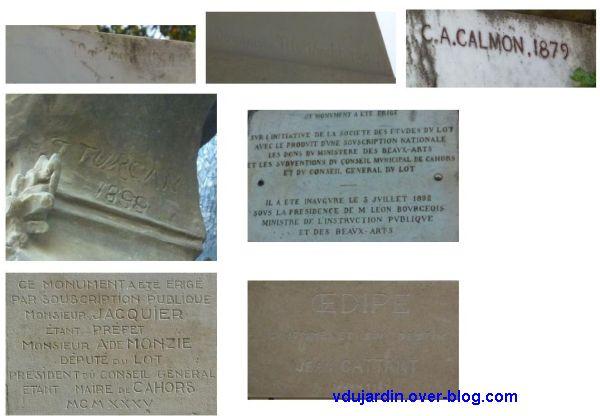Cahors, dates sur des statues