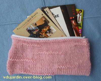 Cartes reçues de Tezca, mars 2011, 1, dans une trousse rose au tricot